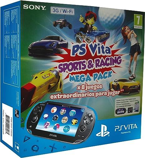 PlayStation Vita - Consola 3G + Mega Pack Sports & Racing + Tarjeta De Memoria 8 GB: Amazon.es: Videojuegos