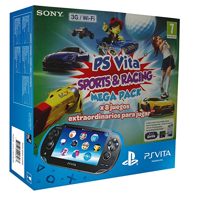 PlayStation Vita - Consola 3G + Mega Pack Sports & Racing + ...