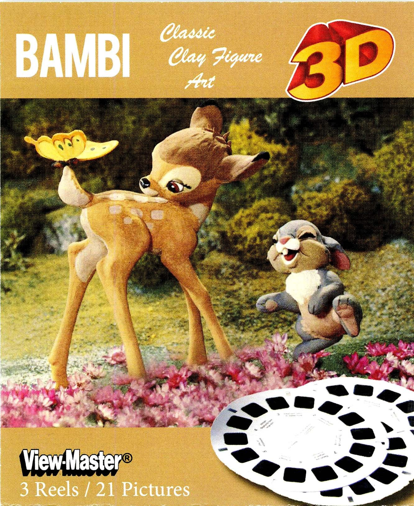 BAMBI - Classic ViewMaster - Clay Figure Art - 3 Reel Set by View Master
