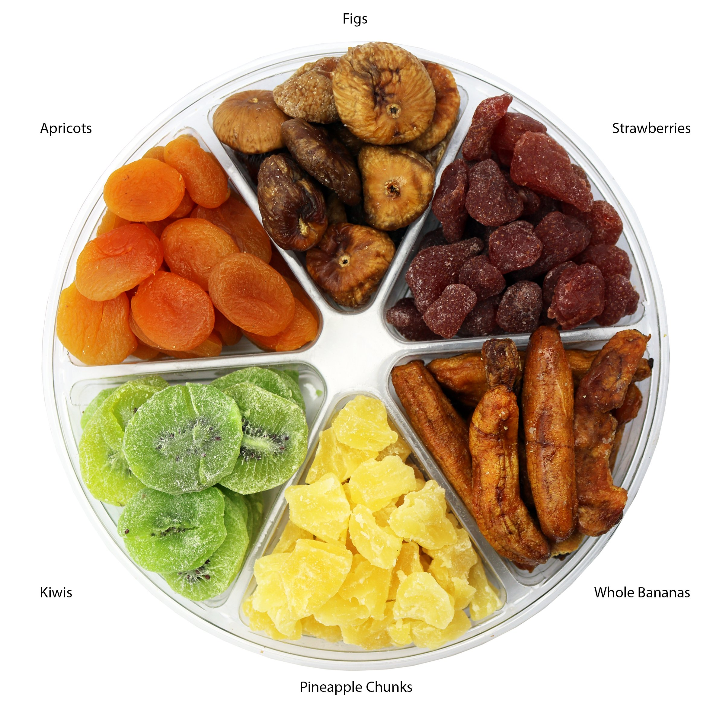 Dried Fruit Deluxe Gift Tray, 6 Section Collection of Fresh Fruits By FirstChoiceCandy by First Choice Candy (Image #2)