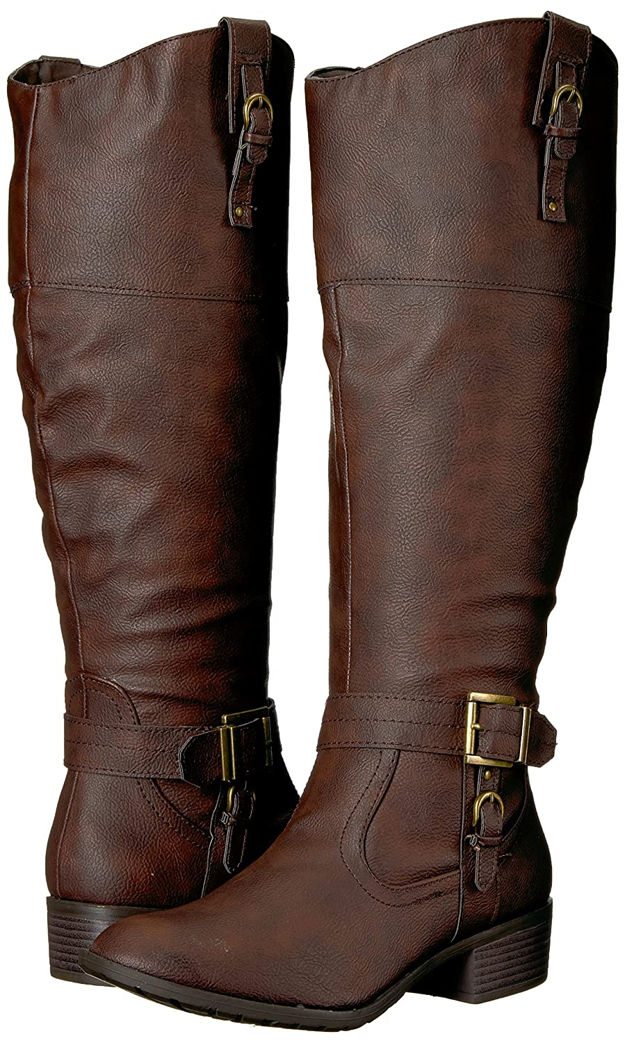 Rampage Women's Ivelia Fashion Knee High Casual Wide Riding Boot (Available In Wide Casual Calf) B076HCHFLK 9.5 M US Wide Shaft|Brown 66b9e3