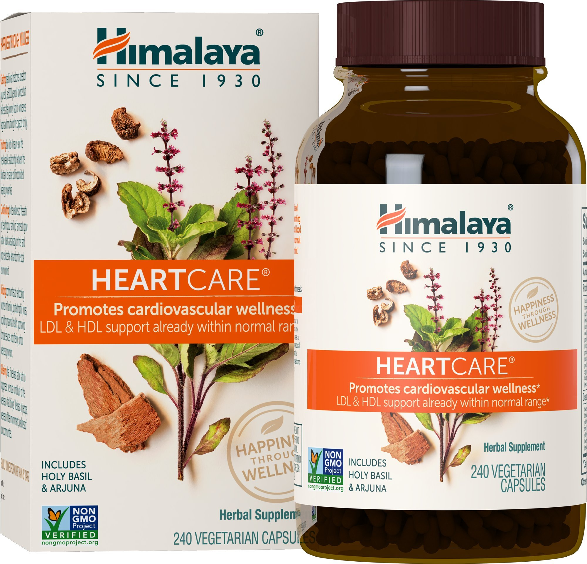 Himalaya HeartCare, Cholesterol and Blood Pressure Supplements for Cardiovascular Wellness and Heart Health, 720mg, 240 Capsules, 2 Month Supply