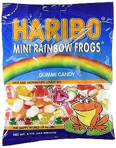 Haribo Gummies - Mini Rainbow Frogs - 5 oz