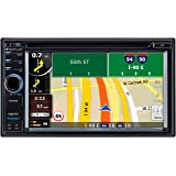 Planet Audio PNV9680 Double-Din 6.2 inch Touchscreen DVD Player, Receiver GPS Navigation, Bluetooth, Wireless Remote