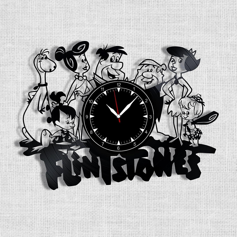 The Flintstones Vinyl Record Clock - Flintstones Wall Clock - Best Gift for Fans The Flintstones - Original Wall Home Decor