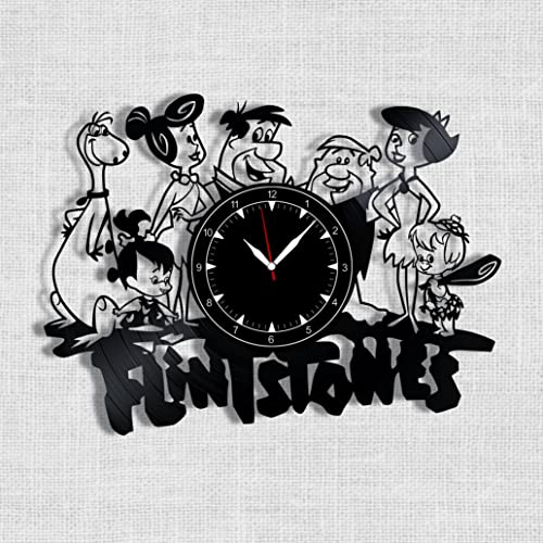 The Flintstones Vinyl Record Clock – Flintstones Wall Clock – Best Gift for Fans The Flintstones – Original Wall Home Decor