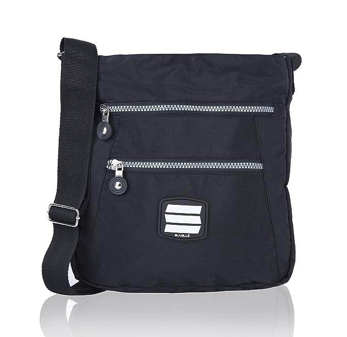 6e664cc056 Suvelle Lightweight Go-Anywhere Travel Everyday Crossbody Bag Multi Pocket  Shoulder Handbag 20103  Amazon.co.uk  Clothing