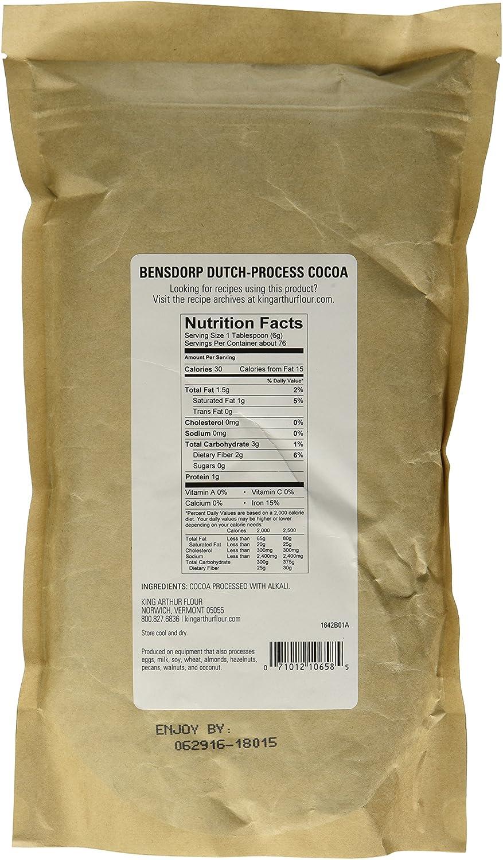 amazon com king arthur flour bensdorp dutch process cocoa