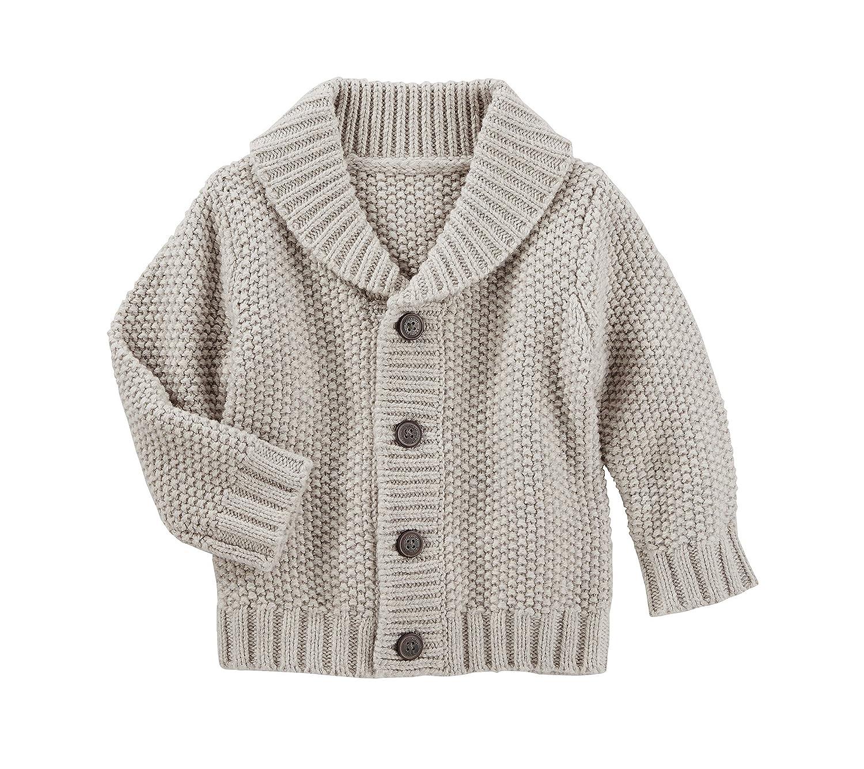 c3315b69b2e0 Amazon.com  OshKosh B Gosh Baby Boys  Shawl Collar Cardigan 12 Months   Clothing