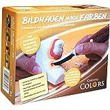 Schnitzen / Bildhauen nach Farben für Kinder und Erwachsene - 3D Motiv Eule