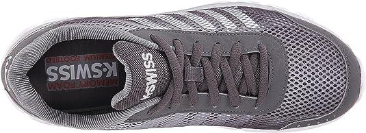 K Swiss Tubes X Lite Hombre Zapatillas Deportivas Entrenar Charcoal/Plateado 39.5 EU: Amazon.es: Zapatos y complementos