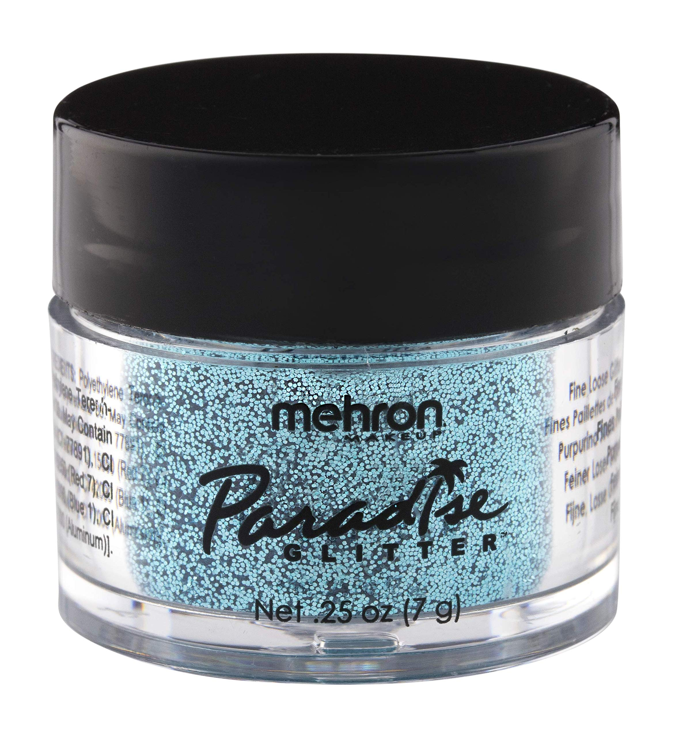 Mehron Makeup Paradise AQ Glitter (0.25 oz) (PASTEL SKY BLUE)