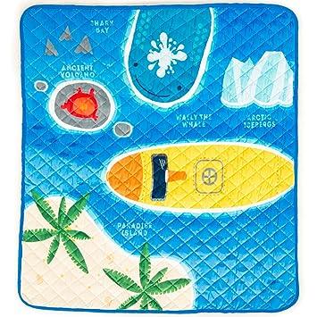 Alfombra Acolchada Lavable con Submarino para Explorar el Oceano con Tu Bebe!