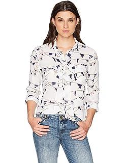 49a3c55ac05fb Amazon.com  Equipment Women s Long Adalyn Fan Printed Blouse  Clothing