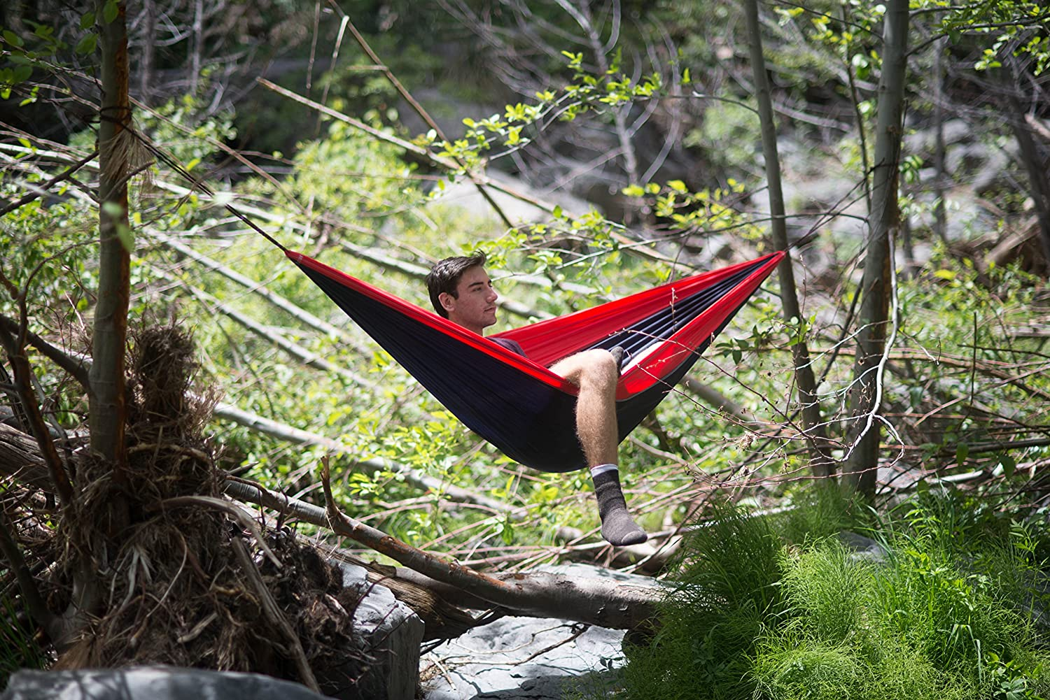 100 Rope per Side Included Backpacking Quality You Can Trust Kayaking /& Travel Portable Hammock Ideal For Camping Hammock Bliss Single