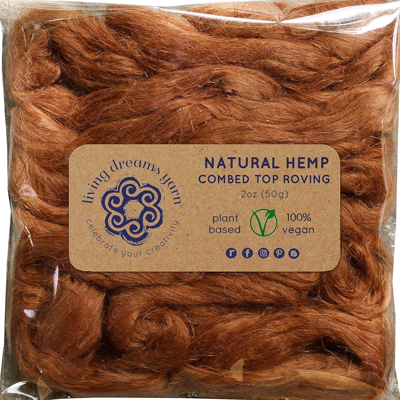 Natural Vegan Combed Top Hemp Fiber for Spinning Felting /& Fiber Arts Blending Bahamas