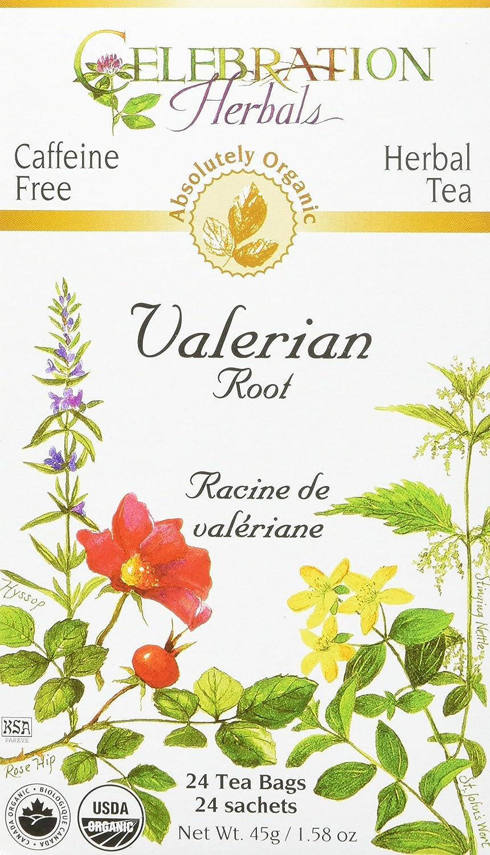 CELEBRATION HERBALS Valerian Root Tea Organic 24 Bag, 0.02 Pound