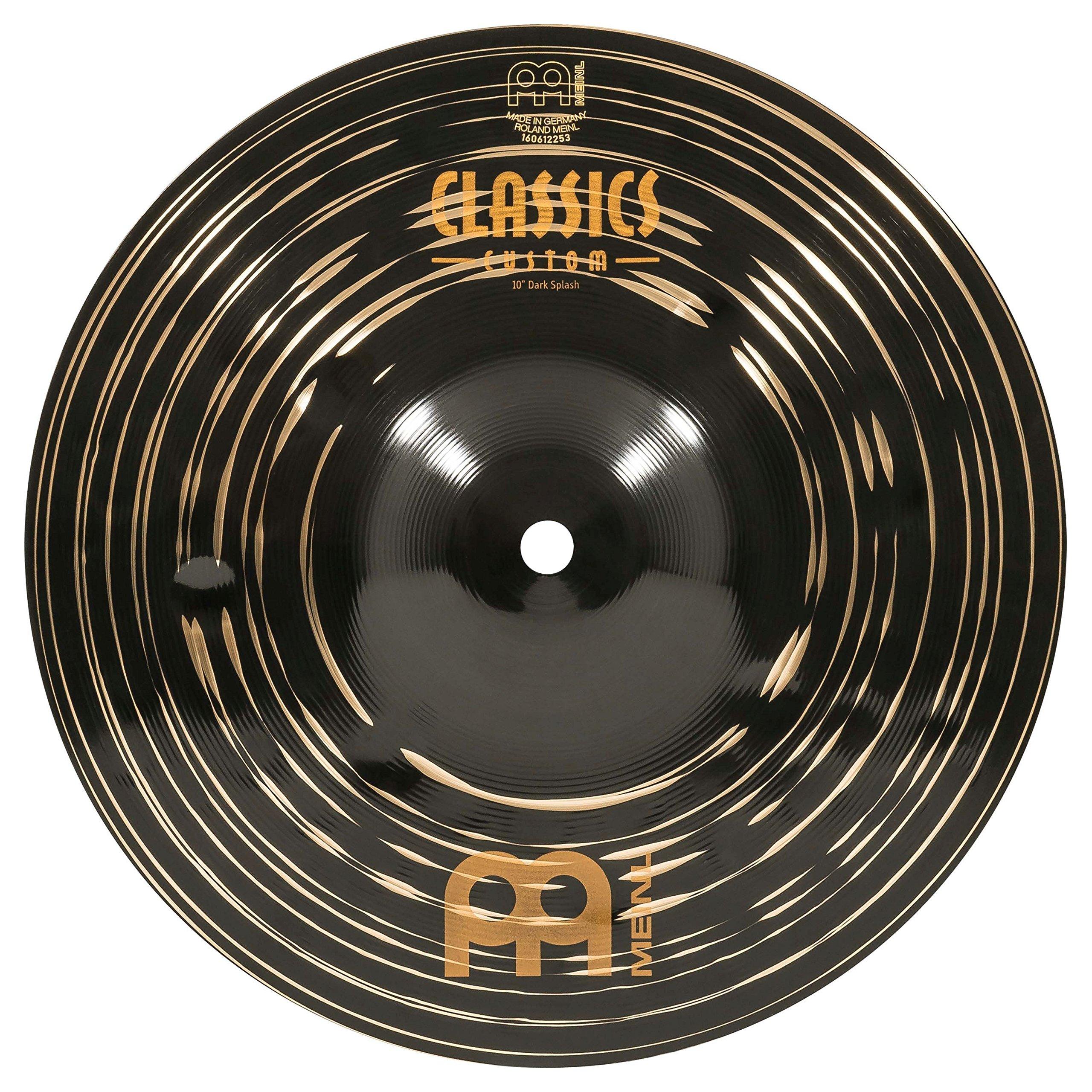 Meinl 10'' Splash Cymbal - Classics Custom Dark - Made in Germany, 2-YEAR WARRANTY (CC10DAS) by Meinl Cymbals