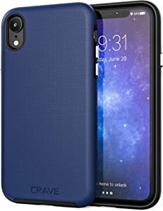 iPhone XR Case, Crave Dual Guard Protection Series Case for Apple iPhone XR (6.1 inch) - Navy