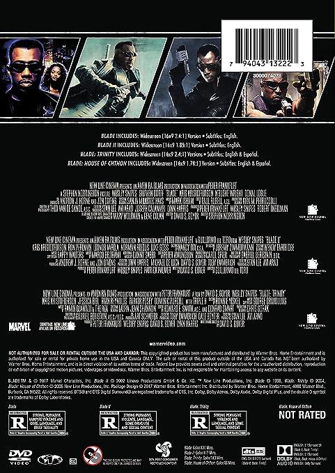 Amazon com: 4 Film Favorites: Blade Collection (Blade / Blade II