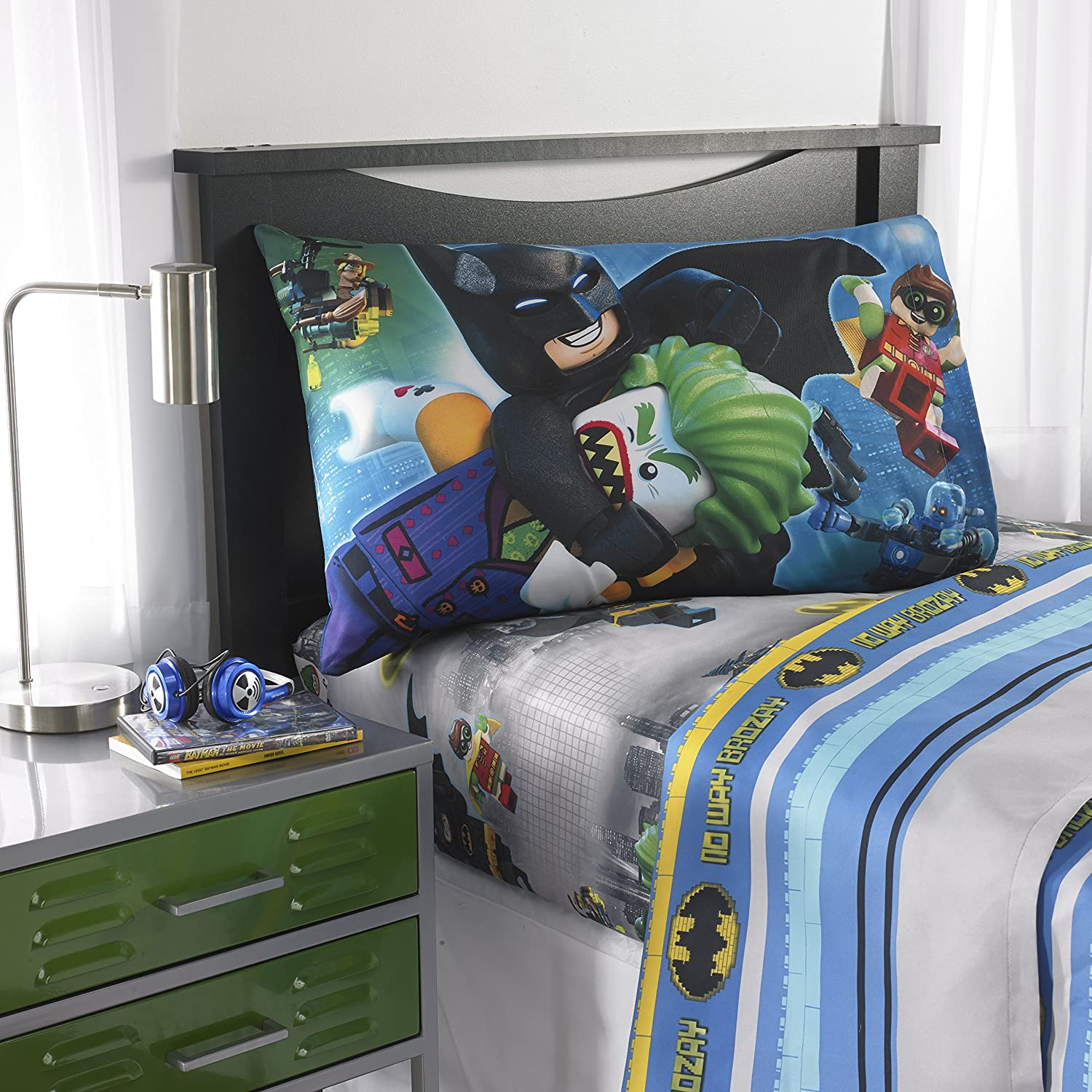 Batman Lego Movie Microfiber Sheet Set with Pillow Case