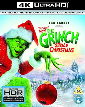 How The Grinch Stole Christmas Blu Ray.Amazon Com How The Grinch Stole Christmas 4k Uhd Blu Ray