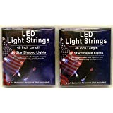 Star Shaped LED Light Strings Patriotic Red White and Blue (Pack of 2)