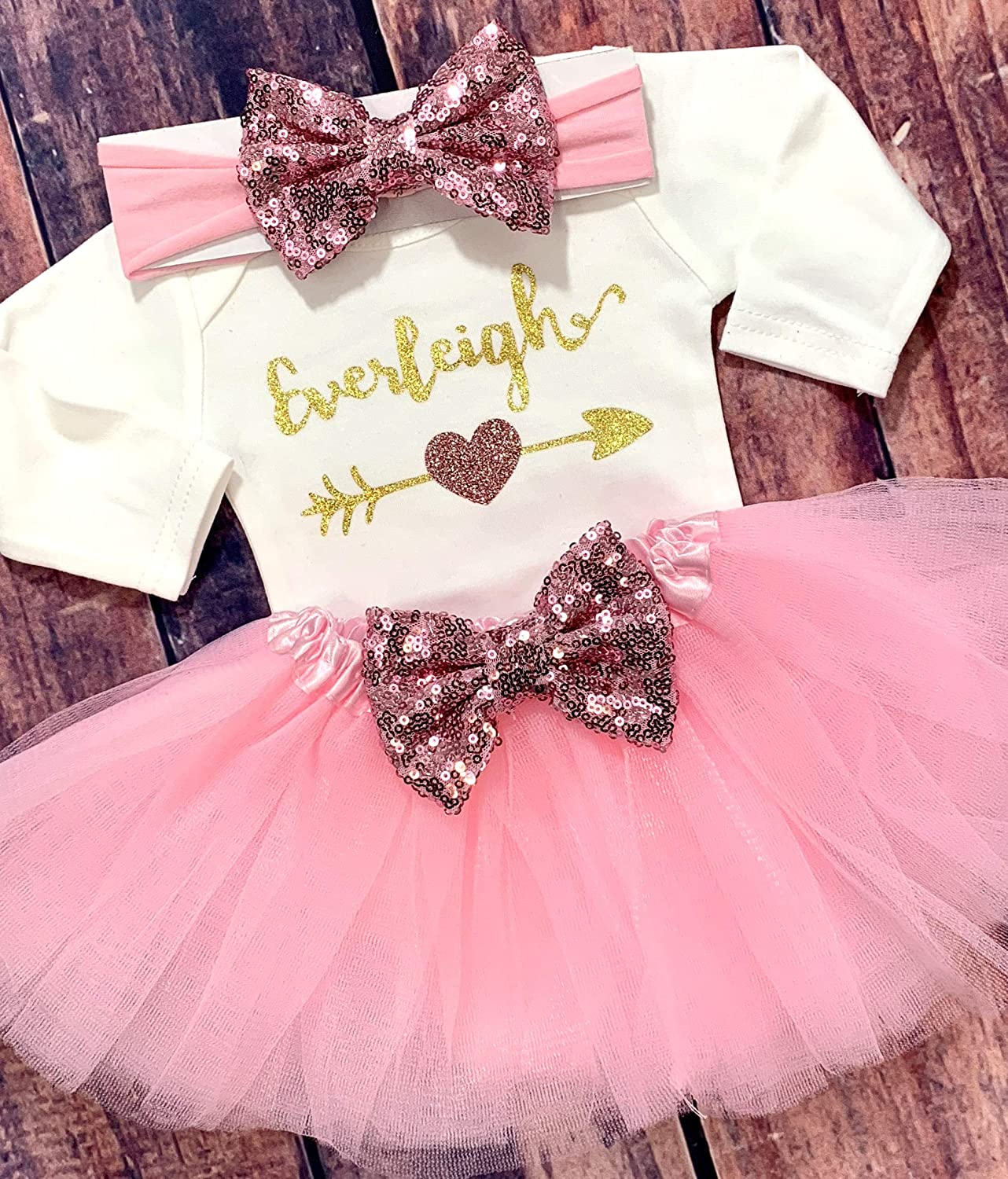 b18ff006126a Amazon.com  Personalized Coming Home Outfit Baby Girl Clothes Take ...