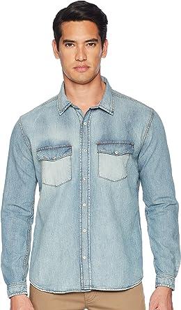 a3b075db4d The Kooples Mens Denim Shirt at Amazon Men s Clothing store