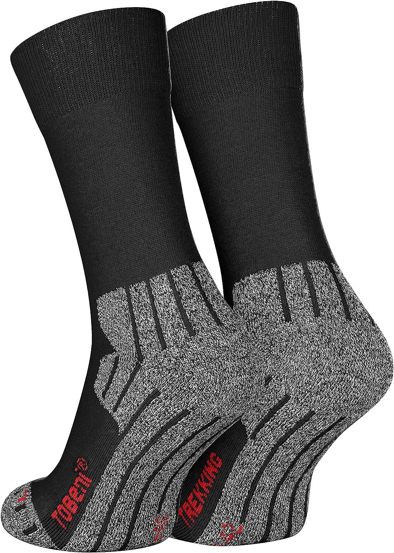 Tobeni 2 Pares de Deportes de Alta Tecnologia Calcetines Trekking Caminando Funcionales para Mujer y Hombre