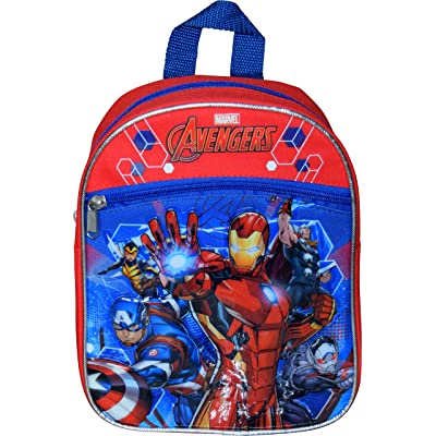 "Marvel Avengers 10"" Mini Backpack W/ 3D Heat Seal Patch Logos or Iron Man And Captain America 