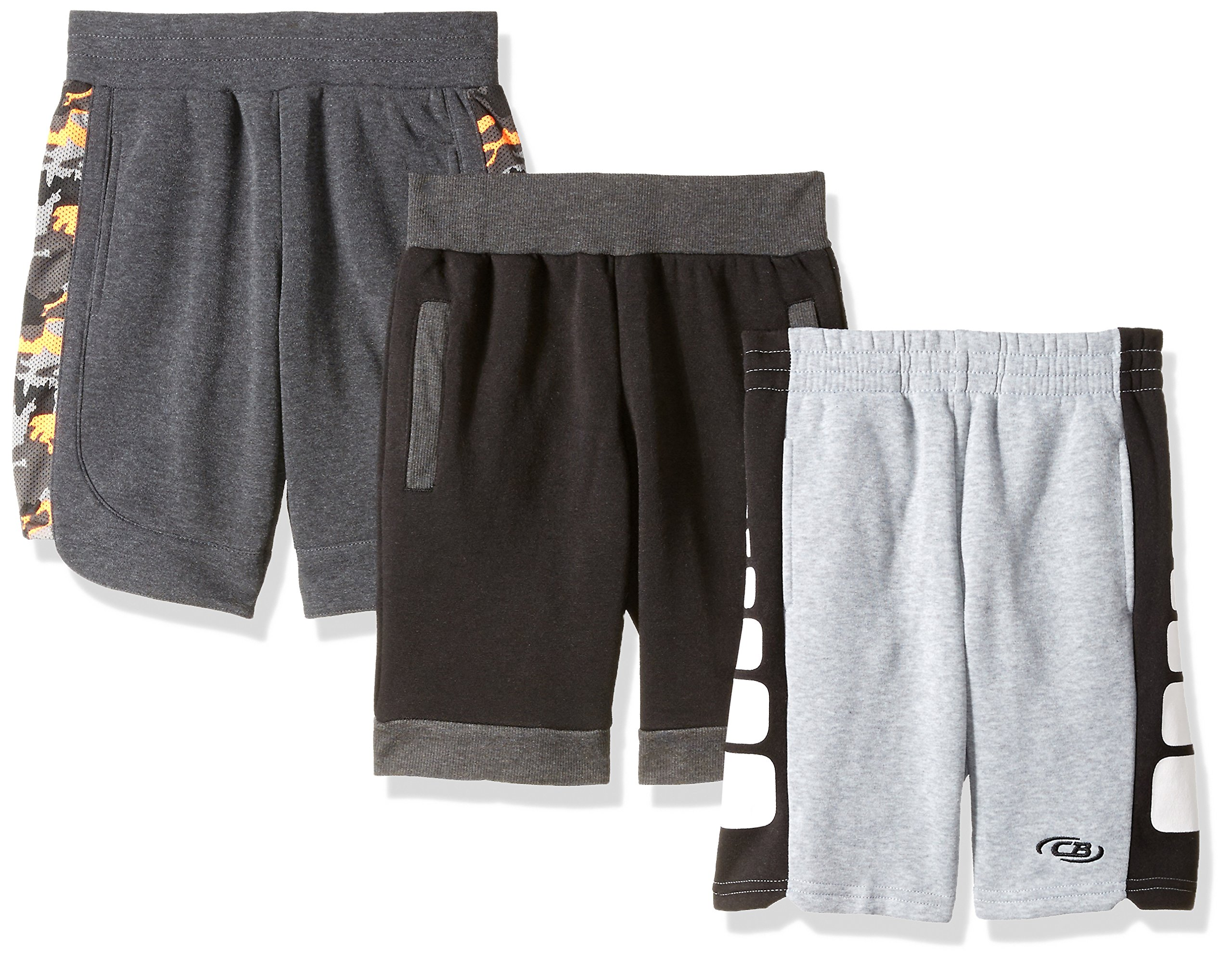 CB Sports Little Boys Multi Pack Athletic Shorts, 3 Pack-Multi-SR79, 5/6