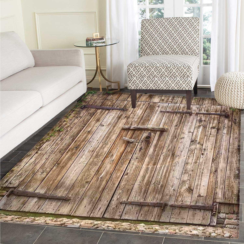 Amazon Rustic Rugs for Bedroom Old Oak Closed Garage Door with