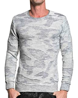 BLZ Jeans - Pull Homme Gris Double col Montant - Couleur  Gris ... 3774842385f2