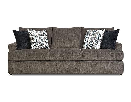 Amazon.com: Simmons Upholstery Grandstand Flannel Sofa, Husk ...