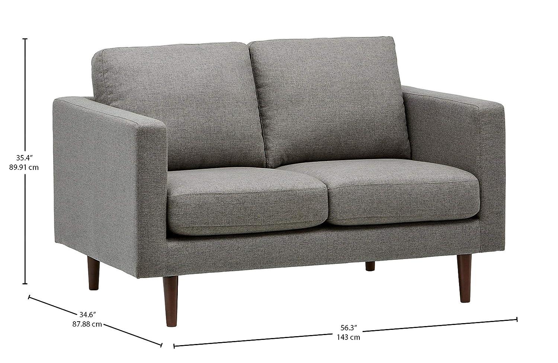 Marca Amazon - Rivet Revolve - Sofá biplaza, 143 cm de ancho (gris)