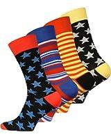 8 paires de chaussettes originales Vincent Creation Hommes Multicolor 41-45 EU One Size 41-45 Multicolore