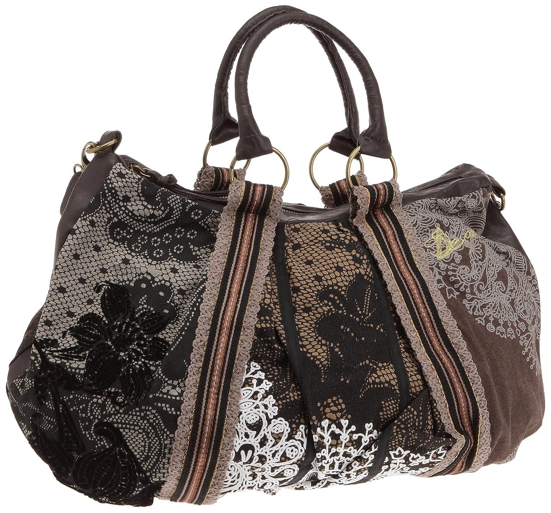 Amazon.com: Desigual Women s Bolso de mano saco Puntilla ...