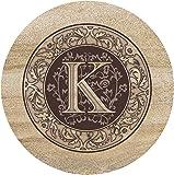Thirstystone Sandstone Trivet Monogram K