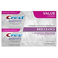 Crest 3D White Brilliance, Fluoride Anticavity Teeth Whitening Toothpaste, Mesmerizing...