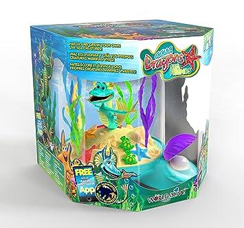 """Aqua Dragons® Acuario """"Amigos Marinos"""" Deluxe, con Bomba aireadora, Juguete Educativo"""