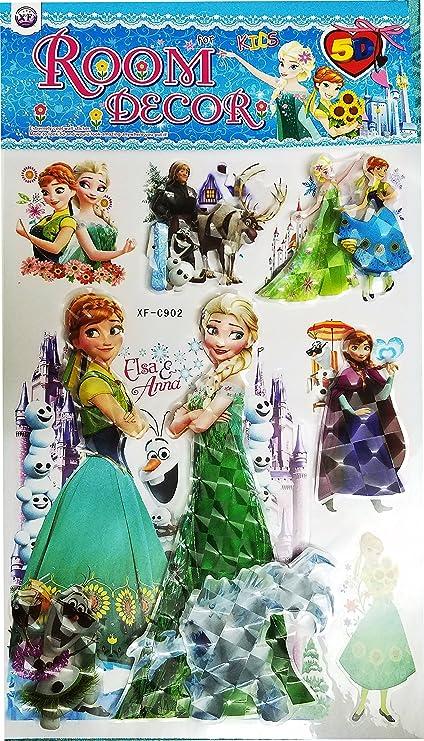 Disney Princess Frozen Elsa Anna Multiple Wall Stickers Sheet Size 35 Cm X 25