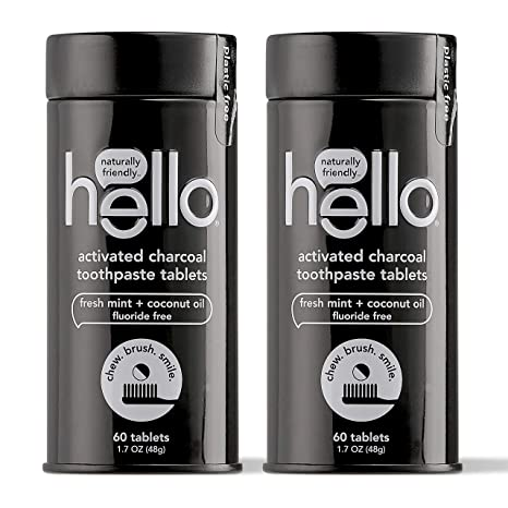 Amazon Com Hello Activated Charcoal Whitening Toothpaste Tablets