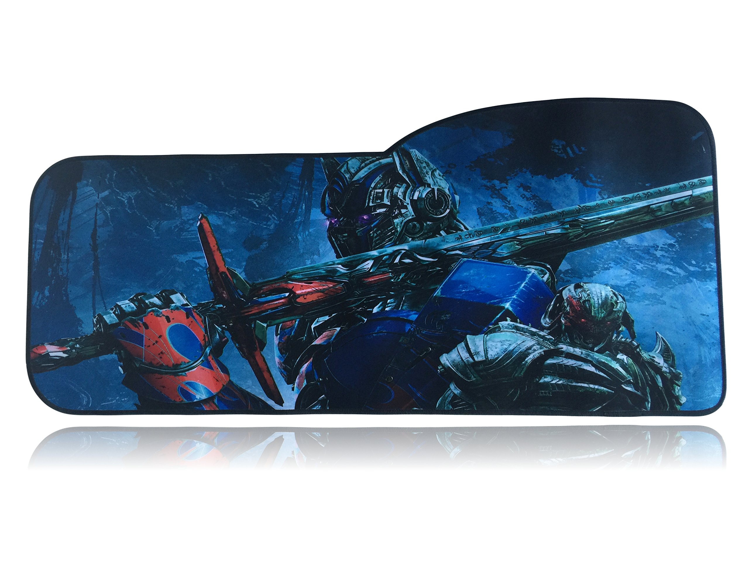 Transformers Extended Size Custom Professional Gaming Mouse Pad - Anti Slip Rubber Base - Stitched Edges - Large Desk Mat - 28.5'' x 12.75'' x 0.12'' (Curve, Optimus Prime)