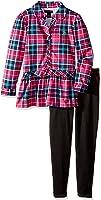 U.S. Polo Assn. Girls' Peplum Blouse and Knit Denim Legging
