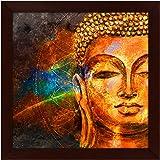 Story@Home Beautifully Printed Buddha Wall Art Painting (Wood, 30 cm x 3 cm x 30 cm)