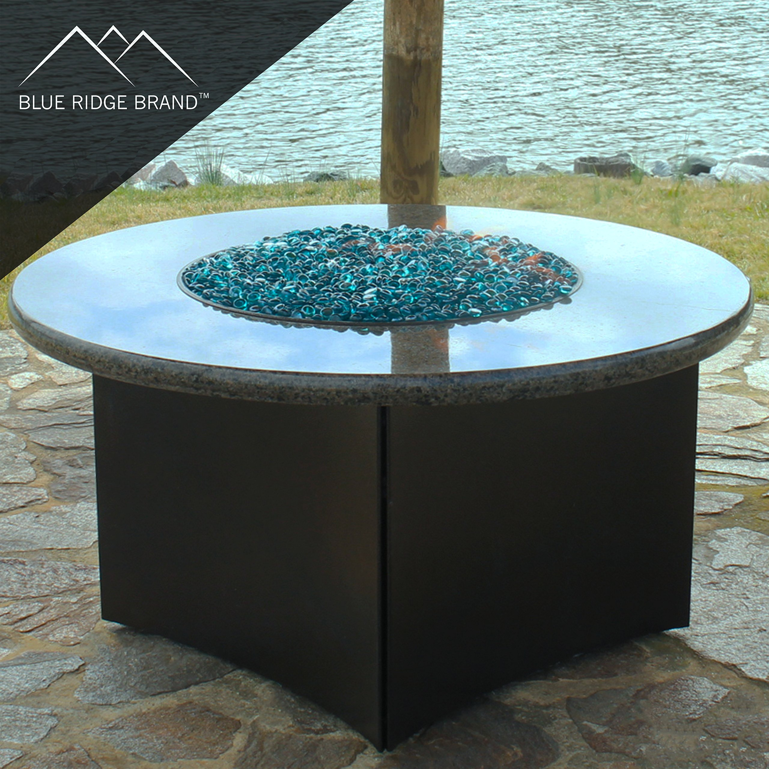Blue Ridge Brand trade; Aqua Reflective Fire Glass Cubes - 20-Pound Professional Grade Fire Pit Glass - 3/4'' Reflective Glass for Fire Pit and Landscaping by Blue Ridge Brand (Image #5)
