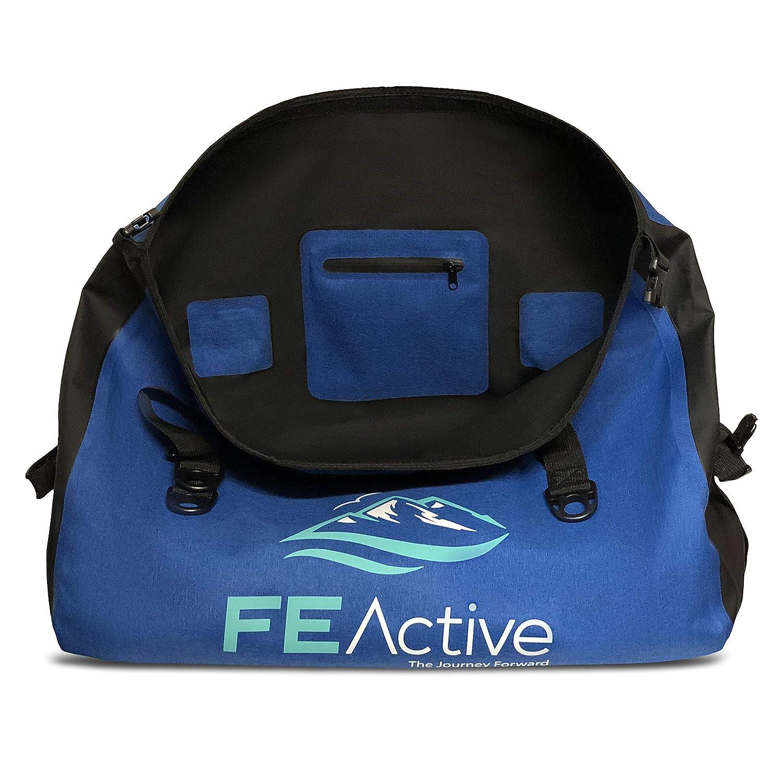FE Active - Mochila Impermeable Seca de 60 Litros Duffel, Bolso Impermeable Camping, Actividades al Aire Libre, Actividades Acuáticas, Senderismo, ...