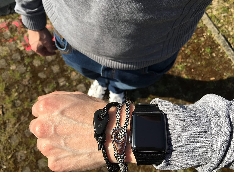 /Size Adjustable/ Friendship Bracelet URBANSTYLES Urban Styles Nylon with Knot Mens Bracelet Mens Bracelet with Stainless Steel Element Trigger/ Assorted Colors /Surfer Surfers