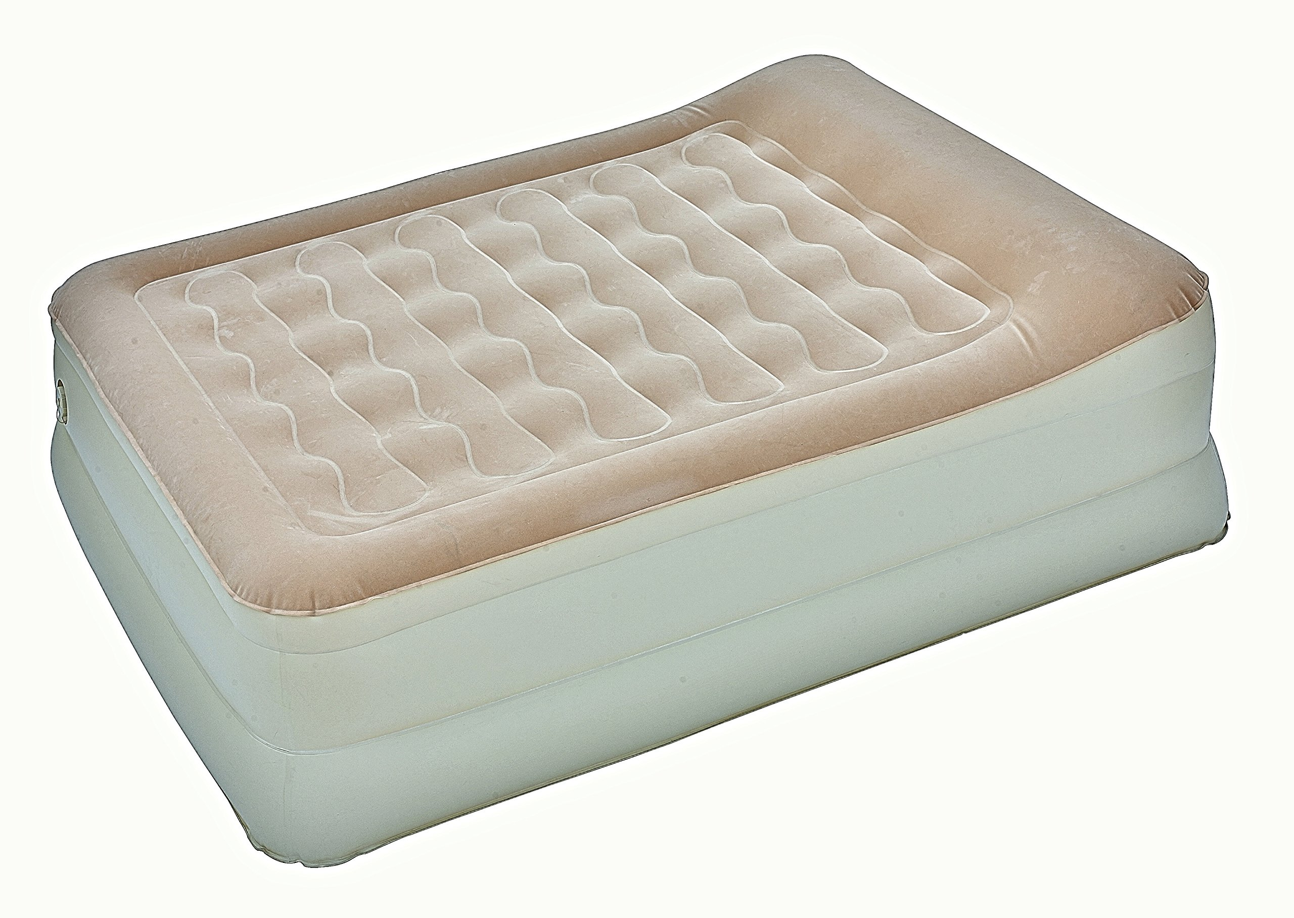 AirCloud MAB-401 Magestic 19-Inch High Butterscotch French Vanilla Inflatable Air Bed, Full